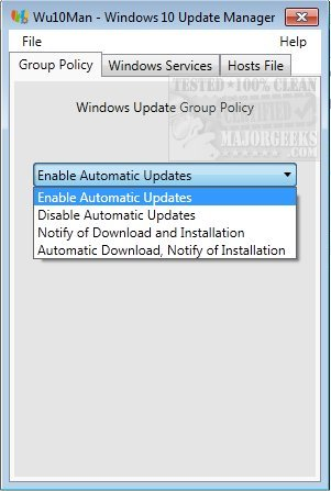 disable windows update unsupported hardware