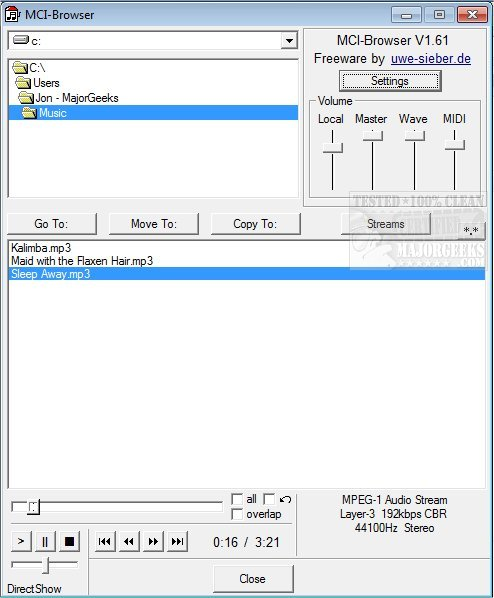 DIRECTSHOW MCI DRIVERS FOR WINDOWS XP