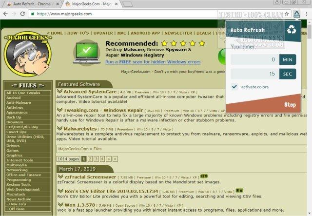 Auto Refresh for Chrome 1 3 11