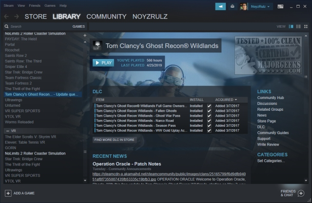 Steam for Windows and Android 2019-06-13